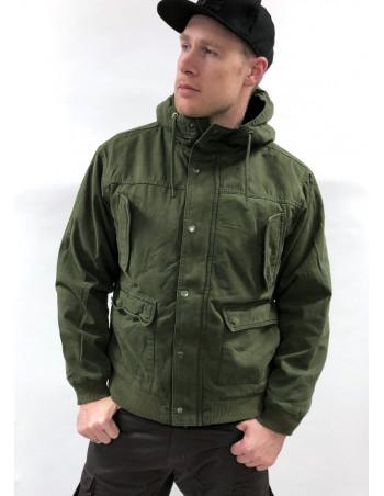 Hooded Jacket Cotton Olive