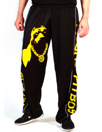 Pitbos Mesh Pants Dog Logo Yellow