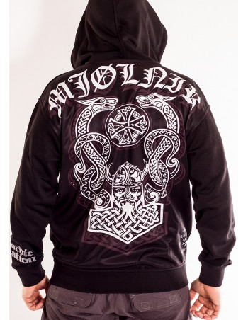 Mjølnir ZipHoodie Black by Nordic Nation