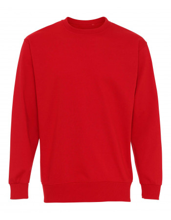Plain Crewneck Heavy Sweatshirt Red