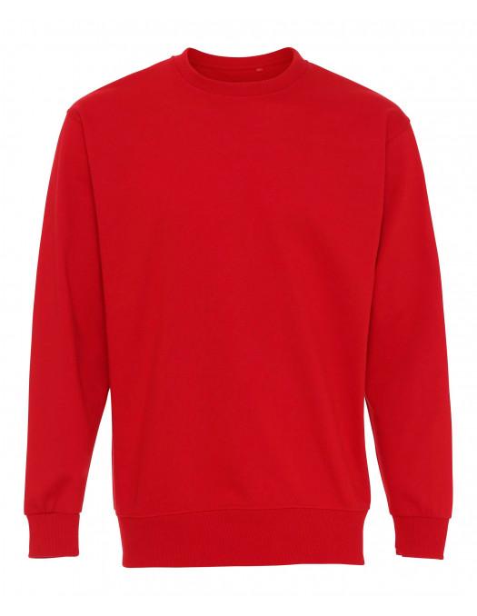 Plain Crewneck Heavy Sweatshirt Red