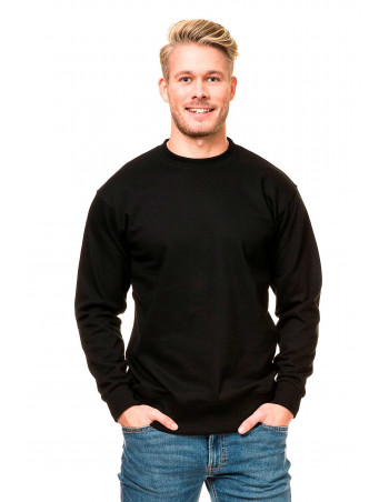 Plain Crewneck Heavy Sweatshirt Black