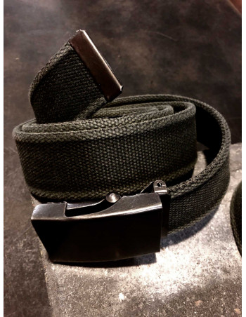 Canvas Belt by Tech Wear Black Washed