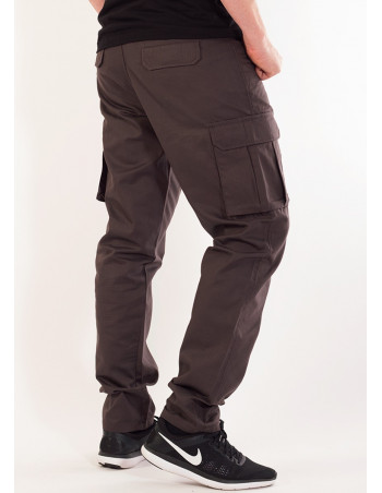 BSAT Tapered Fit Cargo Pants Dark Grey
