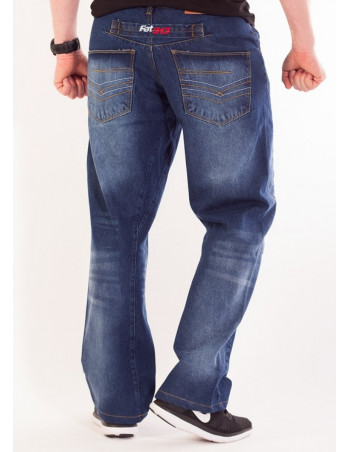 FAT313 Renew Legend Jeans Med Blue Stone Washed Baggy
