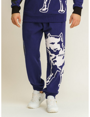 Amstaff Dog Logo Sweatpants Blue