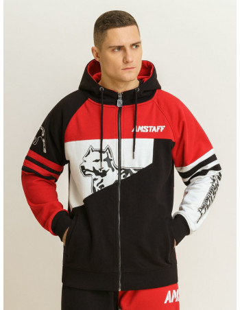 Amstaff Street Instinct Hoodie Red/Black/White