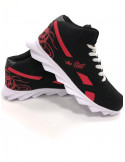 Skull Race Sneakers BlackNRed by BSAT