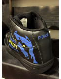 Pitbos Respect Dog Street Sneakers Black and BlueNYellow