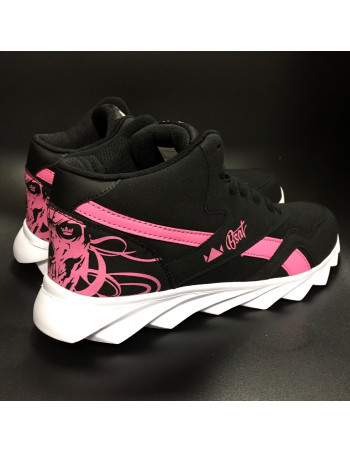 Skull Race Sneakers BlackNPink by BSAT