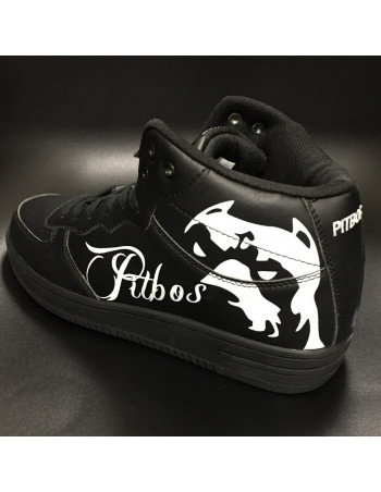 Pitbos Dog Street Sneakers BlackNWhite