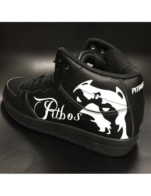 Pitbos Dog Street Sneakers BlackNWhite