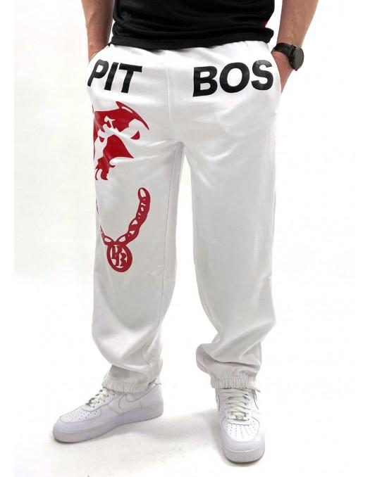 Pitbos Respect & Loyalty Sweatpants WhiteNBlack