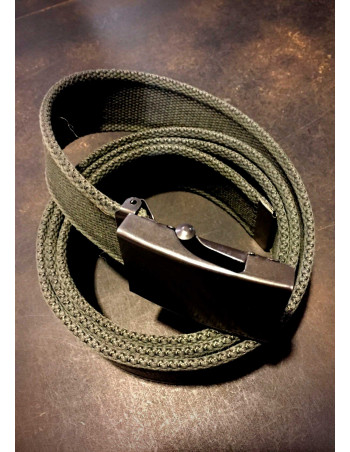 Olive Canvas Belt by Tech Wear