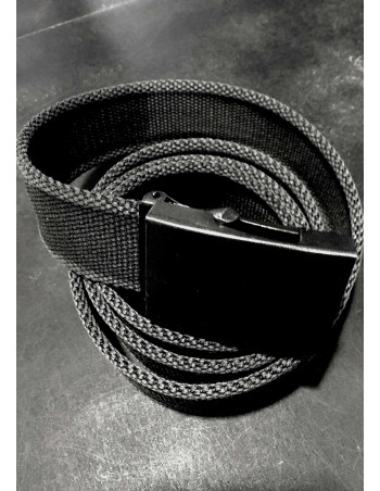 Black Canvas Belt by Tech Wear