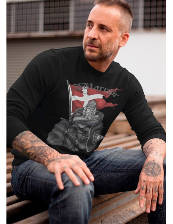 Holger Danske Premium Sweatshirt Crewneck Black Cotton