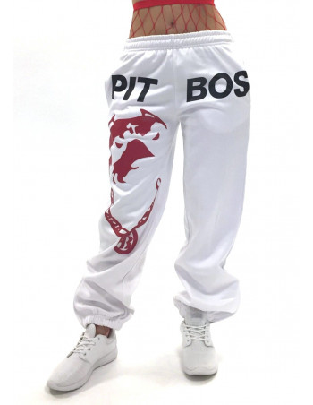Pitbos Respect & Loyalty Sweatpants WhiteNBlack