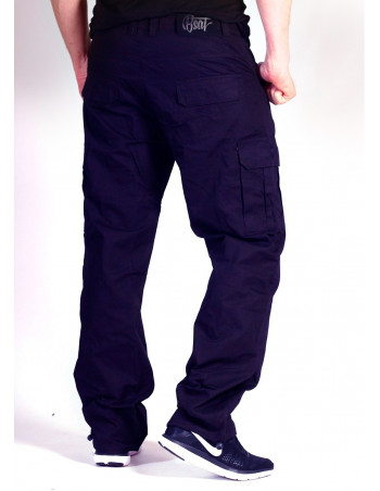 BSAT Regular Fit Combat Cargo Pants Navy