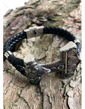 Skåne Thors Hammer Artificial Leather Bracelet