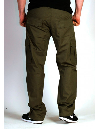 BSAT Regular Fit Combat Cargo Pants Dark Olive