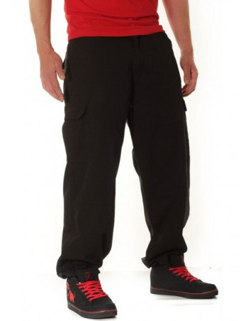 BSAT Combat Cargo Pants Black Baggy fit