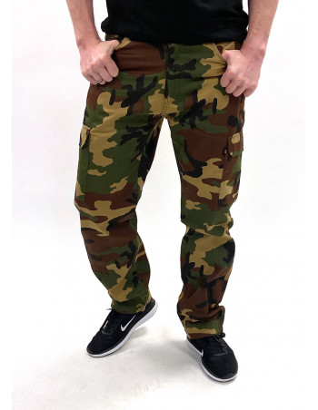 BSAT Regular Fit Woodland Cargo Pants