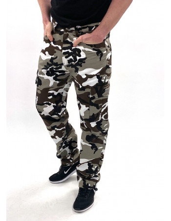 BSAT Regular Fit Urban Camo Cargo Pants