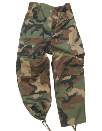 Kids Cargo Pants Woodland