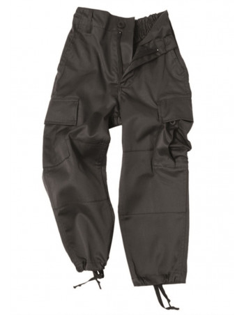 Kids Cargo Pants Black