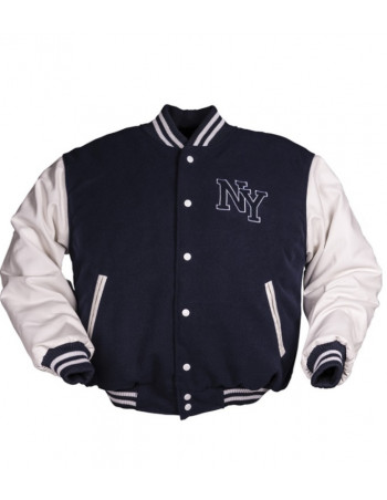 N.Y. Baseball Jacket Navy / White
