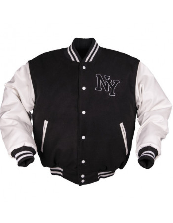 N.Y. Baseball Jacket Black / White