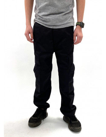 Kids Cargo Pants Black