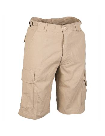 US Cargo Shorts Prewashed Khaki by TechWear