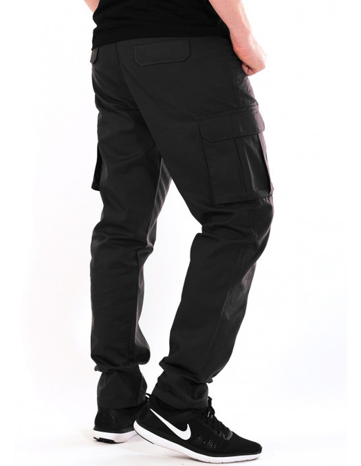 BSAT Tapered Fit Cargo Pants Black