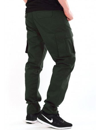 BSAT Tapered Fit Cargo Pants Dark Olive