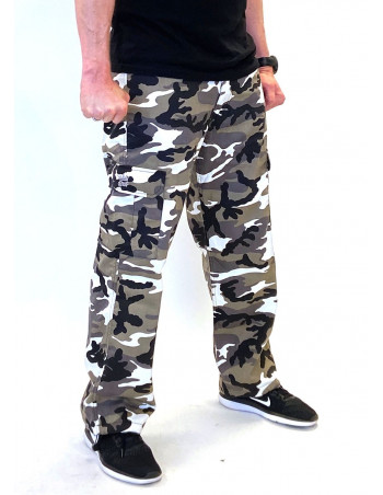 BSAT Combat Cargo Pants Urban Camo Baggy fit