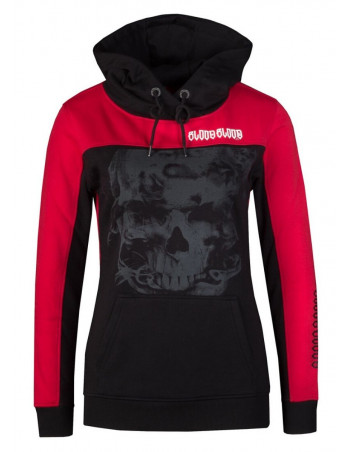 Logo Skull Hoodie RedNBlack by Blood Inh Blood Out