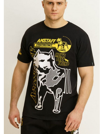 Street Instinct Best Friend T-Shirt Black by Amstaff