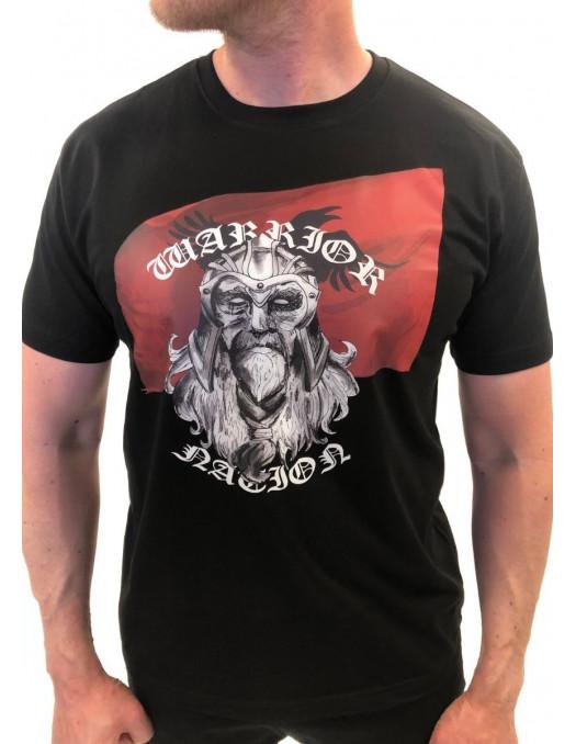 Warrior Nation T-Shirt Black by Nordic Nation Premium Cotton