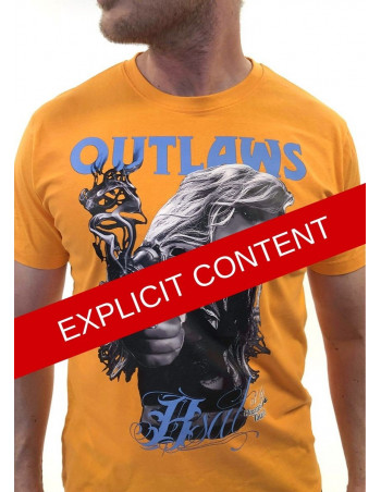 Outlaw Bastards t-shirt Orange by BSAT
