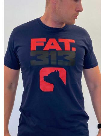 FAT313 Logo Dog T-Shirt Navy