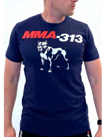 MMA Dog T-Shirt Navy by FAT313