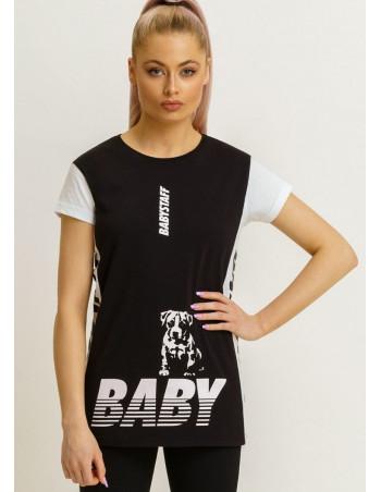 Brand Logo  T-Shirt BlackNWhite by Babystaff
