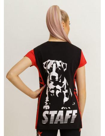 Brand Logo  T-Shirt BlackNRed by Babystaff