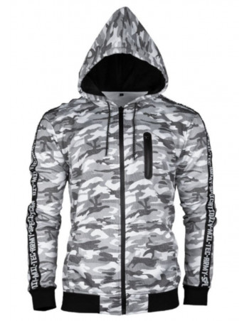 TechWear Track Jacket Urban Camo Hooded