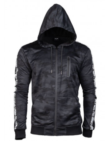 TechWear Track Jacket Dark Camo Hooded