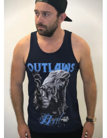 BSAT Outlaws Bastards TankTop Navy
