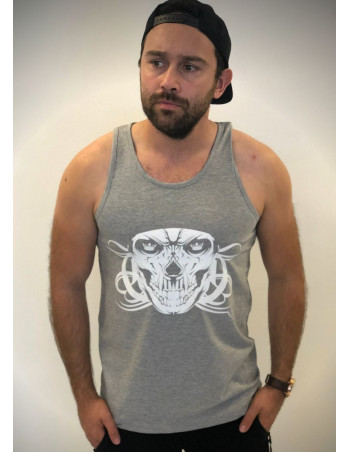 Cali Skull TankTop Light Grey by BSAT