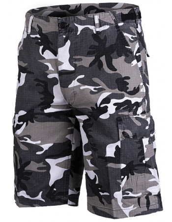 Techwear RipStop shorts Washed Urban Camo