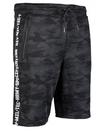 Tech Wear Track Shorts Dark Camo